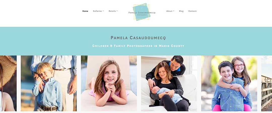 Pamela Casaudoumecq website design